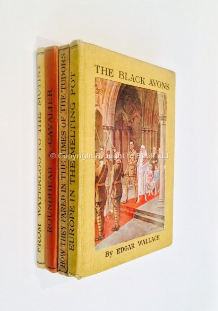 The Black Avons Four Volumes by Edgar Wallace First Editions George Gill & Sons 1925